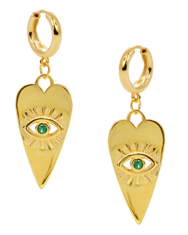Ένα όμορφο και μοντέρνο ζευγάρι σκουλαρίκια από επιχρυσωμένο ασήμι 925 της σειράς KIKI. Δώστε στυλ στην εμφάνισή σας με αυτό το υπέροχο κόσμημα.