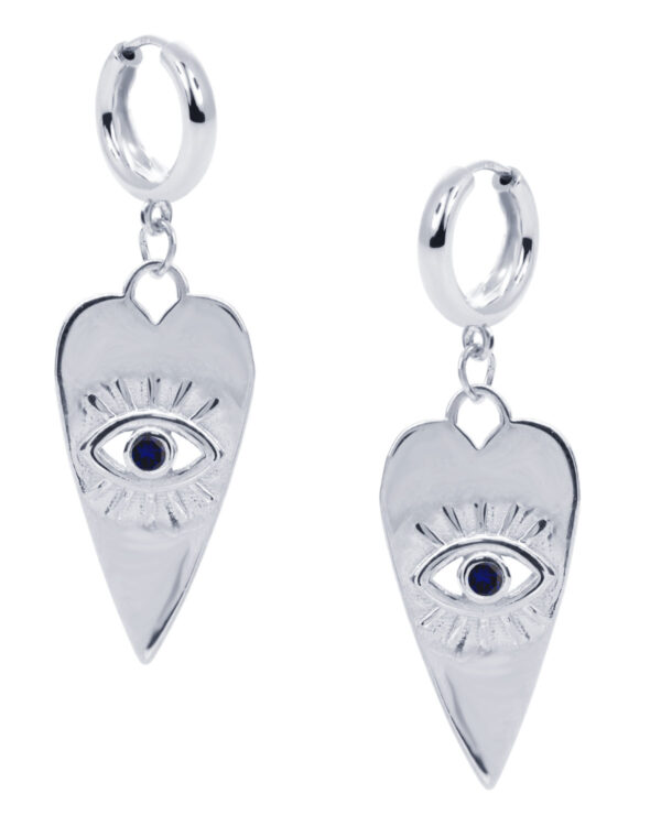 Ένα όμορφο και μοντέρνο ζευγάρι σκουλαρίκια από ασήμι 925 της σειράς KIKI. Δώστε στυλ στην εμφάνισή σας με αυτό το υπέροχο κόσμημα.