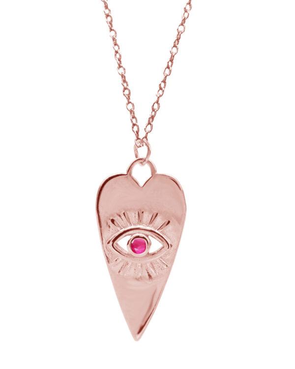 Ένα όμορφο και μοντέρνο κολιέ από ροζ επιχρυσωμένο ασήμι 925 της σειράς KIKI. Δώστε στυλ στην εμφάνισή σας με αυτό το υπέροχο κόσμημα.