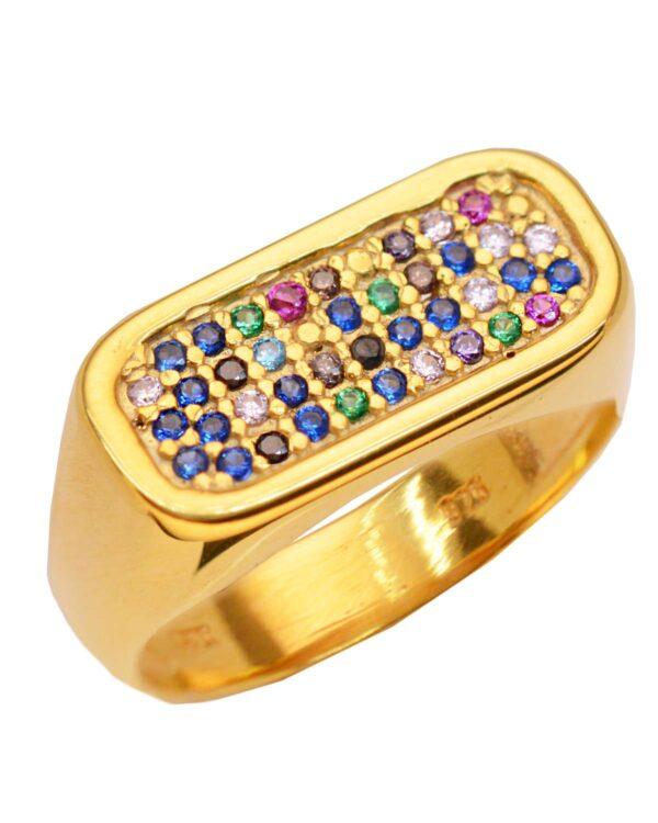 Ένα όμορφο και μοντέρνο δαχτυλίδι από επιχρυσωμένο ασήμι 925 της σειράς KIKI. Δώστε στυλ στην εμφάνισή σας με αυτό το υπέροχο κόσμημα.