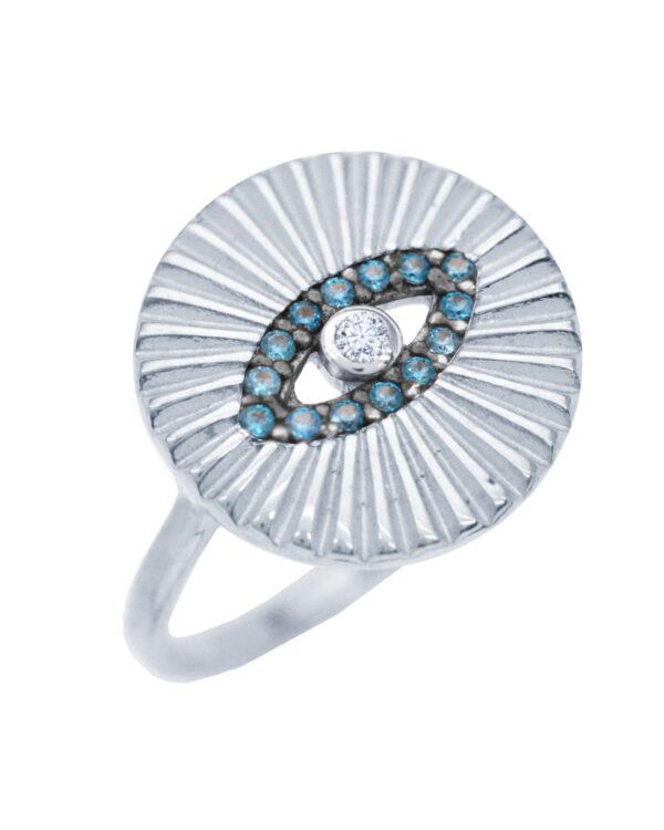 Ένα όμορφο και μοντέρνο δαχτυλίδι από ασήμι 925 της σειράς KIKI. Δώστε στυλ στην εμφάνισή σας με αυτό το υπέροχο κόσμημα.