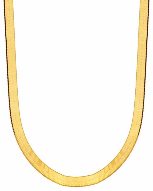 Ένα υπέροχο κολιέ αλυσίδα φίδι από επιχρυσωμένο ασήμι 925 από την εταιρεία KIKI. Μια μοναδική δημιουργία που θα τραβήξει όλα τα βλέμματα.