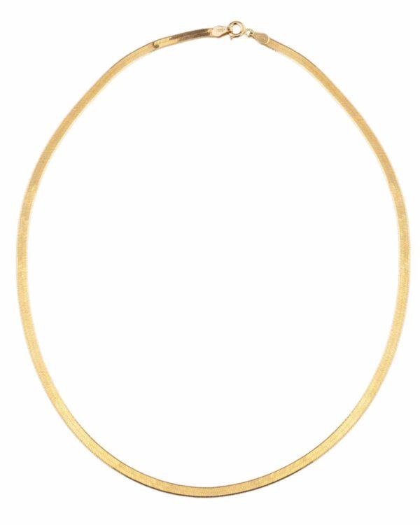 Ένα υπέροχο κολιέ αλυσίδα λεπτό φίδι από επιχρυσωμένο ασήμι 925 από την εταιρεία KIKI. Μια μοναδική δημιουργία που θα τραβήξει όλα τα βλέμματα.